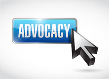 Advocacy button sign concept illustration Royalty Free Stock Image