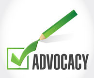 Advocacy check mark sign concept Stock Photography