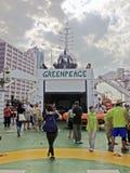 Advocacy of the Esperanza - Greenpeace Royalty Free Stock Photo