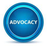 Advocacy Eyeball Blue Round Button royalty free illustration