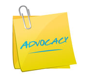 Advocacy memo post sign concept Stock Photo