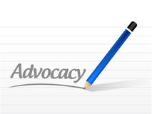 Advocacy message sign concept illustration Royalty Free Stock Photos
