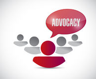 Advocacy message and team illustration Stock Image