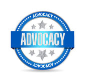 Advocacy seal sign concept illustration. Design over white Stock Image