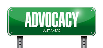 advocacy street sign concept illustration Royalty Free Stock Images