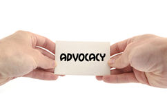 Advocacy text concept. Isolated over white background Royalty Free Stock Photography