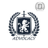 Advocacy vector isolated icon or emblem Stock Images