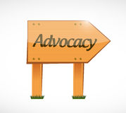Advocacy wood sign concept illustration Royalty Free Stock Images