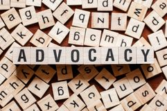 Advocacy word concept stock images