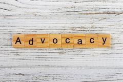 ADVOCACY word made with wooden blocks concept.  royalty free stock photography
