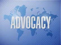 Advocacy world sign concept illustration Royalty Free Stock Photo