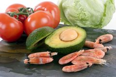 Advocado shrimp Stock Photo