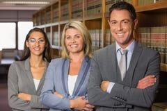 Advocaten in de wetsbibliotheek Stock Foto