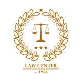Advocatenkantoor, bureau, het ontwerp van het centrumembleem Royalty-vrije Stock Foto's