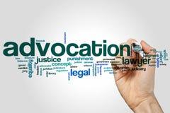 Advocations-Wortwolke Stockfoto