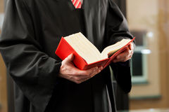 Advogado com código dos direitos civis Imagem de Stock Royalty Free