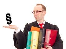 Advogado com muito trabalho foto de stock royalty free