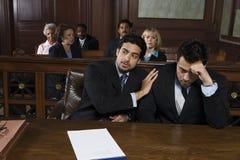 Advogado Consoling Upset Client fotos de stock