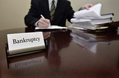 Advogado da falência Foto de Stock Royalty Free