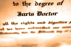Advogado de Juris Doctor Doctorate Degree Lawyer imagens de stock