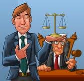 Advogado e juiz ilustração stock