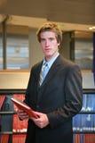 Advogado na biblioteca Fotos de Stock