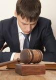 Advogado no tribunal Foto de Stock Royalty Free
