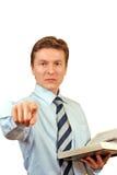 Advogado novo que acusa Imagens de Stock Royalty Free