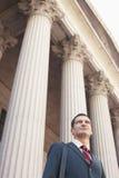 Advogado Outside Courthouse Foto de Stock