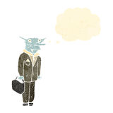 advogado retro do vampiro dos desenhos animados Imagem de Stock