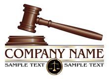 Advokat- eller advokatbyrådesign Royaltyfri Bild