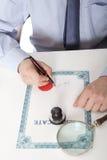 Advokat notarius publicu Arkivfoto