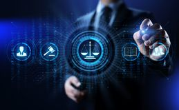 Advokat på för affärsrådgivning för lag den lagliga advokaten Arbets- överensstämmelse royaltyfri fotografi