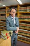Advokatanseende i lagarkivet Royaltyfri Bild