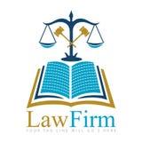 Advokatbyrålogo royaltyfri illustrationer