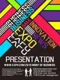 Advresting αφίσα ετήσιου γεγονότος ιπτάμενων EXPO Στοκ φωτογραφίες με δικαίωμα ελεύθερης χρήσης