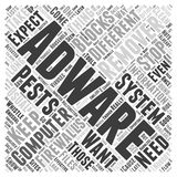 Adware remover word cloud concept vector background. Text Stock Image