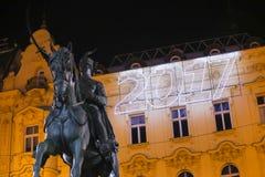 Adwent w Zagreb, Chorwacja 2016 Zdjęcia Royalty Free