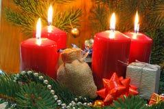 Adwentowe świeczki Zdjęcia Stock