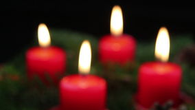 Adwentowe świeczki Z ostrości zdjęcie wideo
