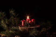 Adwentowe świeczki zdjęcie royalty free