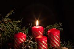 Adwentowe świeczki zdjęcie stock