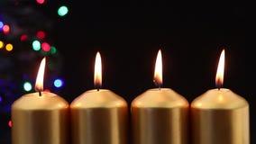 Adwentowe świeczki zbiory wideo
