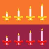 Adwentowe świeczki ilustracja wektor