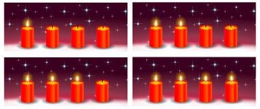 Adwentowy czerwony świeczka wakacje tło Obrazy Royalty Free