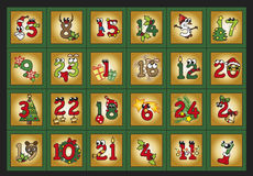 Adwentu kalendarz Zdjęcia Royalty Free