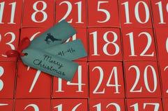Adwentu kalendarz Ho Ho Ho - Wesoło boże narodzenia - Obraz Royalty Free