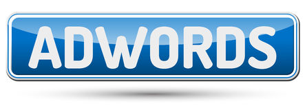 Adwords -有文本的抽象美丽的按钮 免版税图库摄影