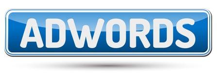 Adwords - beau bouton abstrait avec le texte Photographie stock libre de droits