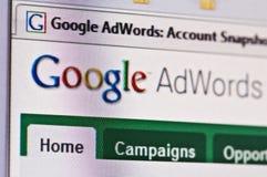 Adwords del Google Fotografie Stock Libere da Diritti